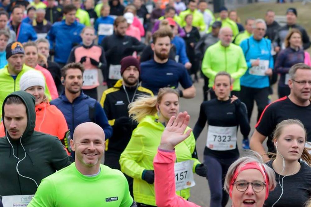 Net na de start van de Warandeloop 2018, op de Beekse Bergen