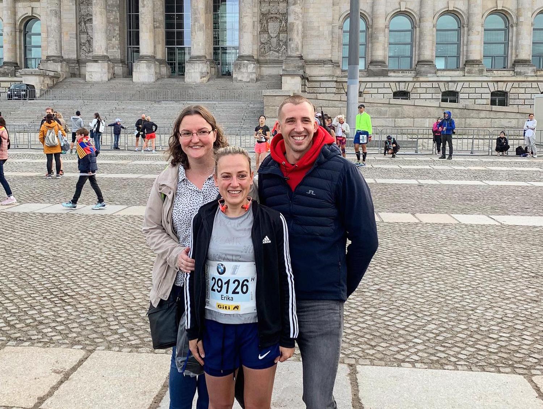 Met mijn marathon-supporters