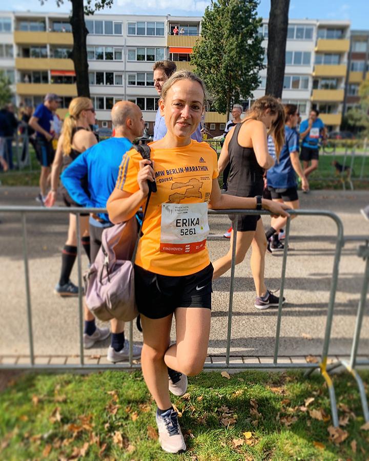 Voor de start van de Halve Marathon van Eindhoven