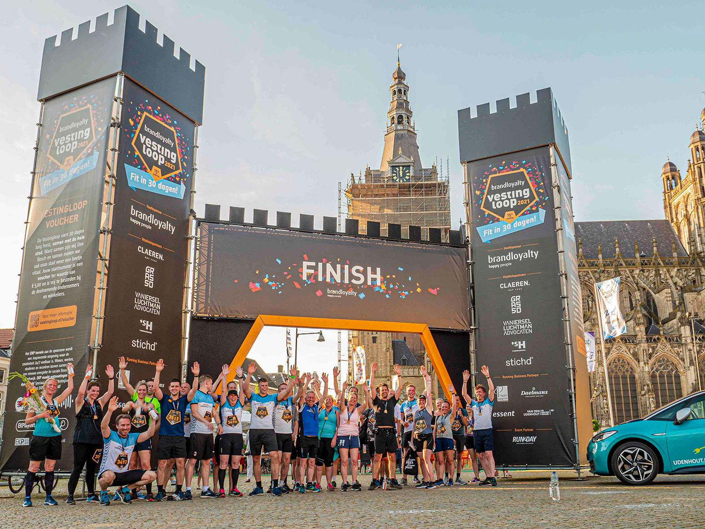 finish van de Vestingloop bij de Sint-Jan in Den Bosch